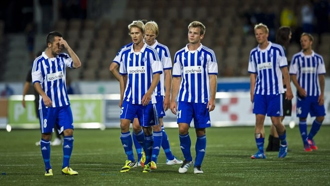 HJK Helsinki players react - UEFA Champions League - nav