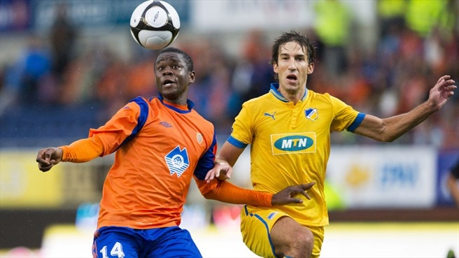 Leke James (Aalesunds FK) & Haritz Borda (APOEL FC)