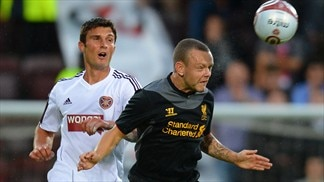 John Sutton (Heart of Midlothian FC) & Jay Spearing (Liverpool FC)