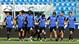 FC Luzern training session