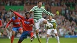 May Mahlangu (Helsingborgs IF) & Gary Hooper (Celtic FC)