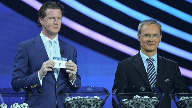 Steve McManaman & Giorgio Marchetti (UEFA Champions League group stage draw)