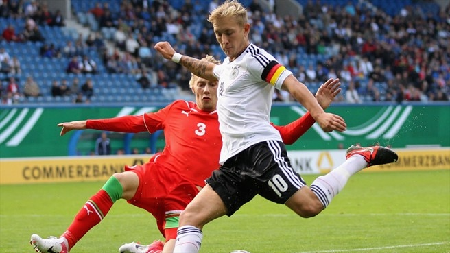 Lewis Holtby (Germany) & Andrei Lebedev (Belarus)