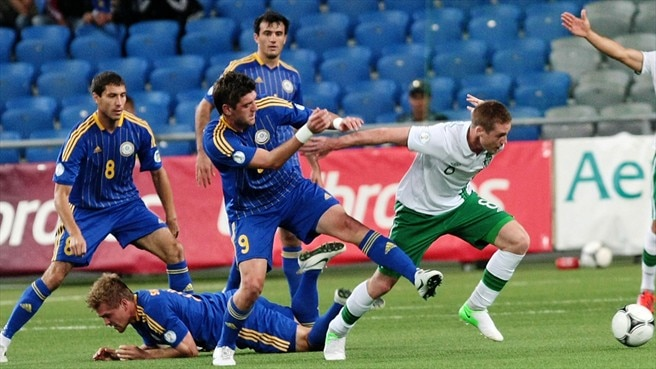 Late double act rescues Ireland in Kazakhstan