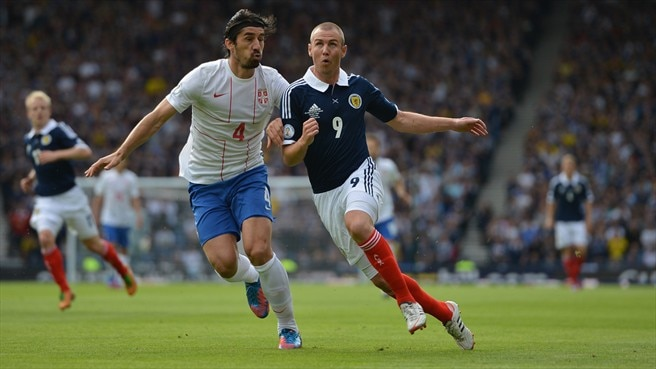 Stalemate between Scotland and Serbia