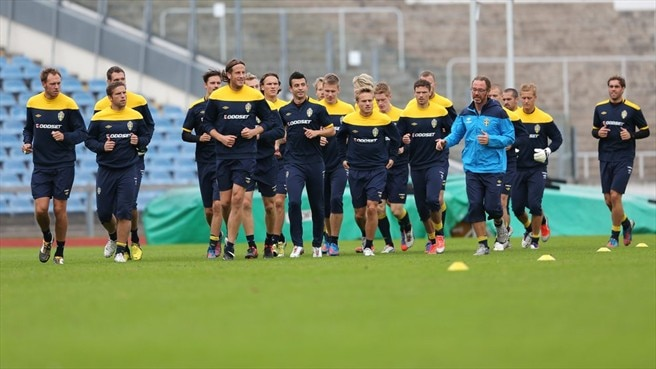 Sweden training