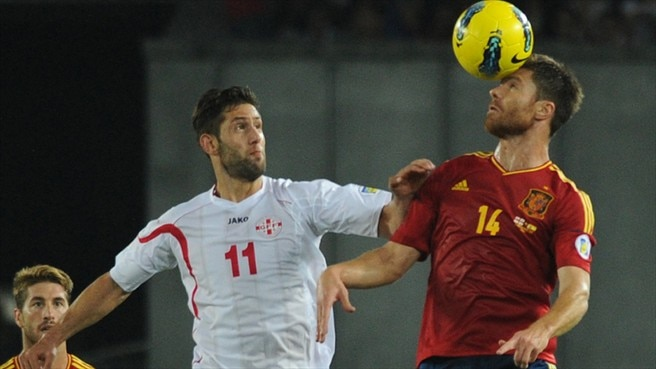 Xabi Alonso (Spain) & Levan Mchedlidze (Georgia)