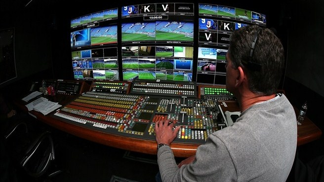TV control room at Chelsea FC