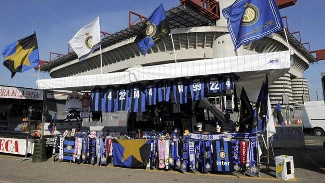 Stalls outside San Siro