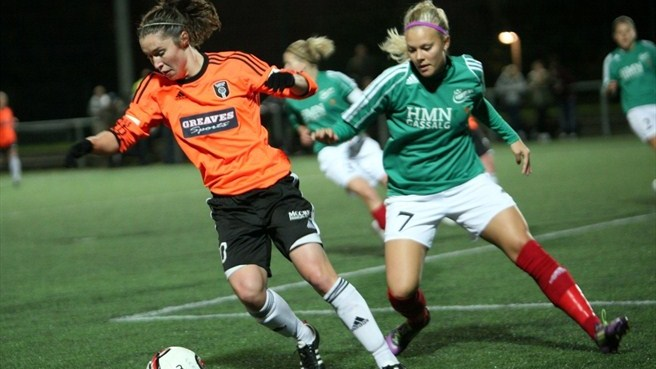 Line Jensen (Fortuna Hjørring) & Jane Ross (Glasgow City LFC)