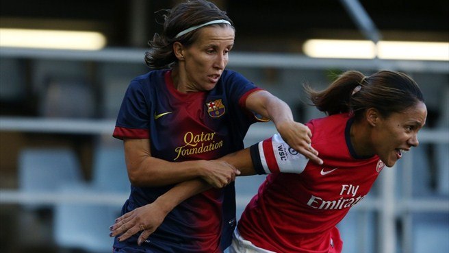 Sonia Bermúdez (FC Barcelona) & Alex Scott (Arsenal LFC)
