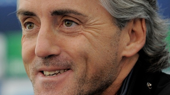 Press conference: Roberto Mancini and Yaya Touré (Man. City)