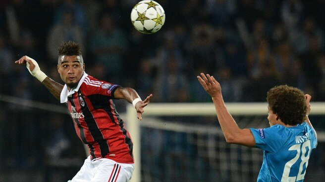 Kevin-Prince Boateng (AC Milan) & Axel Witsel (FC Zenit St Petersburg)