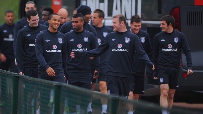 England training session