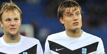 Jelle Vossen (right) scored as Genk defeated Videoton on matchday one