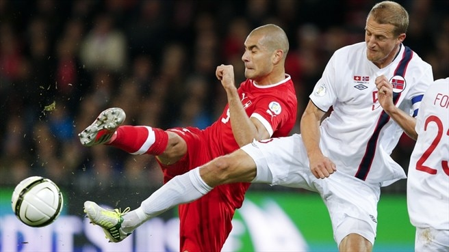 Eren Derdiyok (Switzerland) & Brede Hangeland (Norway)
