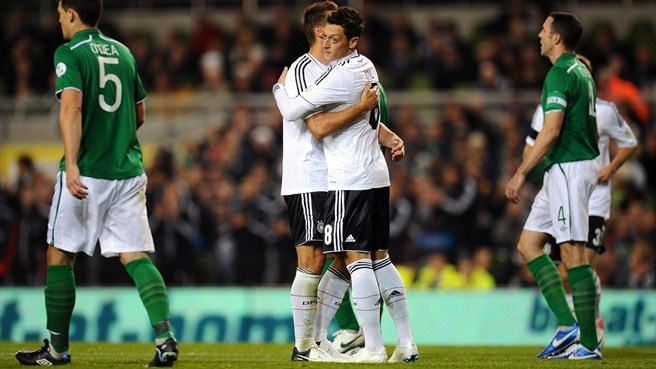 Dominant Germany hit Ireland for six