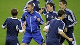Northern Ireland players train
