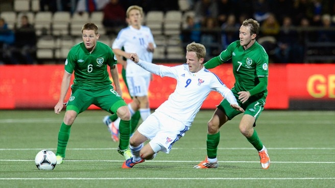 Daniel Udsen  (Faroe Islands), James McCarthy & Aiden McGeady (Republic of Ireland)