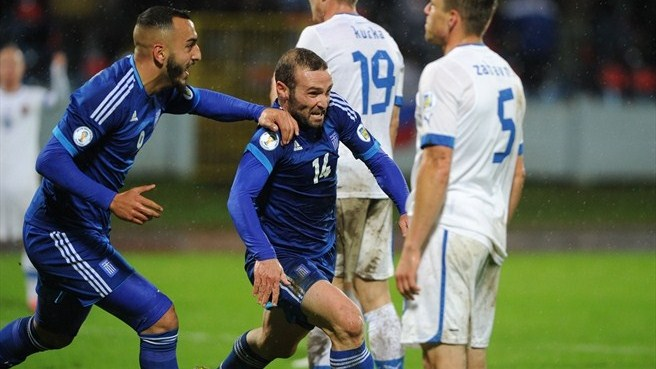 Greece's Salpingidis downs Slovakia