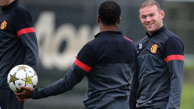Wayne Rooney & Patrice Evra (Manchester United FC)