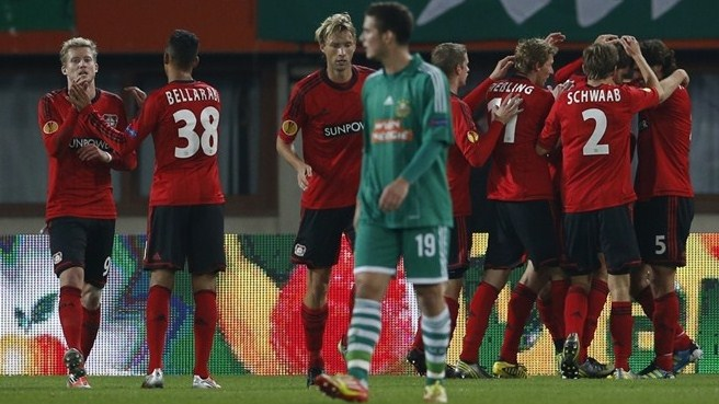 Dominant Leverkusen ease to Rapid success