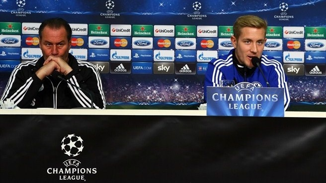 Press conference: Lewis Holtby (Schalke), Arsène Wenger and Bacary Sagna (Arsenal)