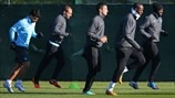 Manchester City FC players train