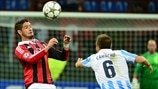 Milan 1-1 Málaga: the story in photos