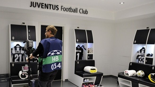 Juventus dressing room