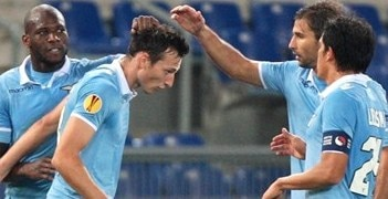 Libor Kozák takes the plaudits after opening the scoring for Lazio