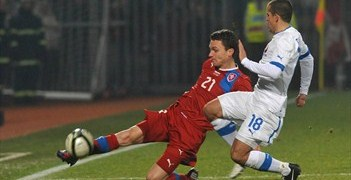 David Lafata in action against Slovakia