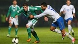 Ali Gokdemir (Azerbaijan) & Kyle Lafferty (Northern Ireland)