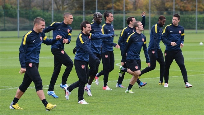 Arsenal FC training