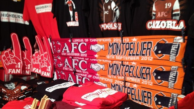 Stalls outside the Arsenal Stadium