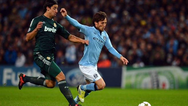 Sami Khedira (Real Madrid CF) & David Silva (Manchester City FC)