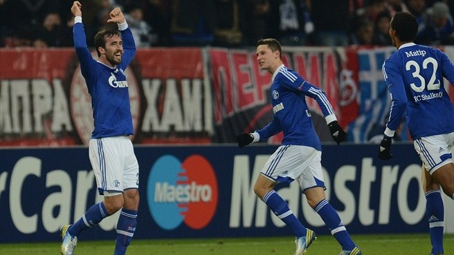 Schalke-Olympiacos reaction