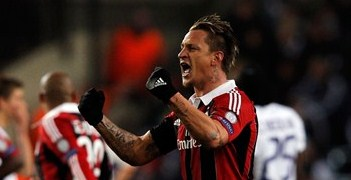Philippe Mexès celebrates his spectacular strike