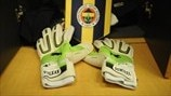 Volkan Demirel's gloves in the Fenerbahçe SK dressing room