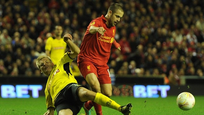 Joe Cole (Liverpool FC) & Juhani Ojala (BSC Young Boys)