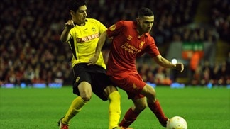Gonzalo Zárate (BSC Young Boys) & Oussama Assaidi (Liverpool FC)