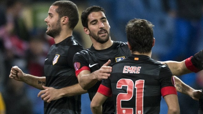 Raúl García strike enough for Atlético to advance