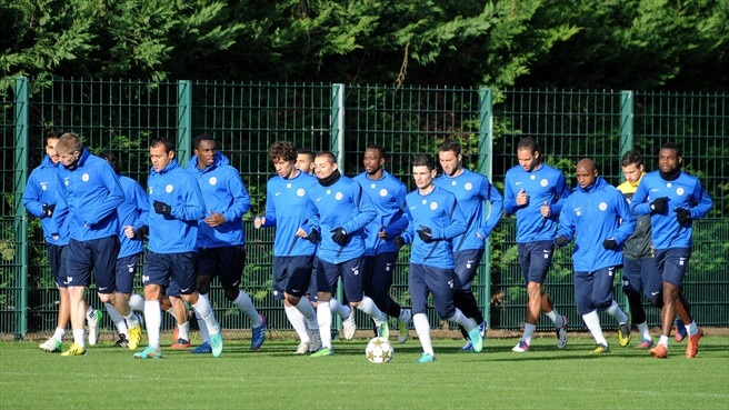 Montpellier Hérault SC players train