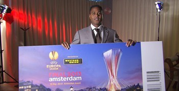 Patrick Kluivert is the UEFA Europa League final ambassador
