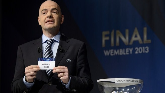 Gianni Infantino (UEFA Champions League round of 16 draw