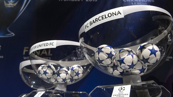 UEFA Champions League round of 16 draw pots and balls