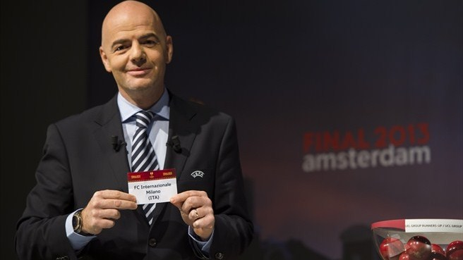 Gianni Infantino (UEFA Europa League round of 32 draw)