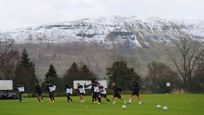 Celtic FC training
