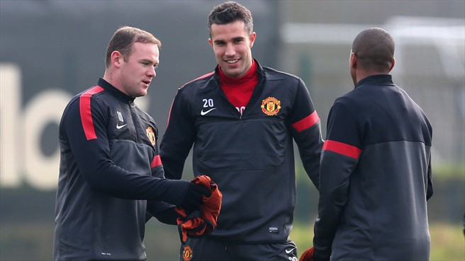 Wayne Rooney, Robin van Persie & Ashley Young (Manchester United FC)