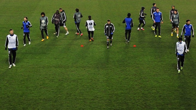 Chelsea FC players train
